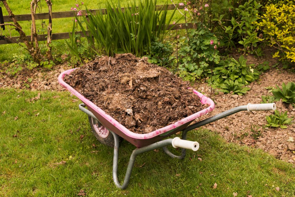 Spread compost