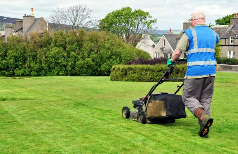 mow lawn Efficiently way
