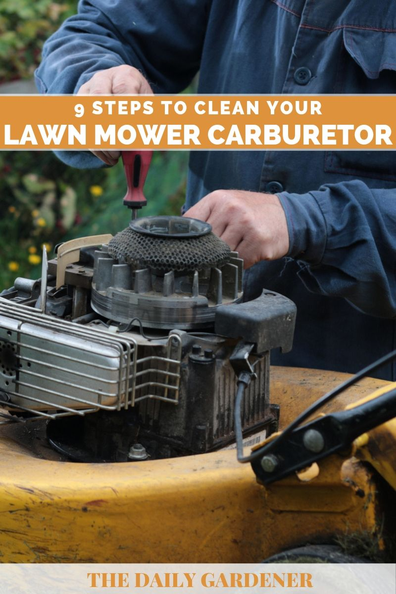 9 Steps to Clean Your Lawn mower Carburetor - The Daily Gardener