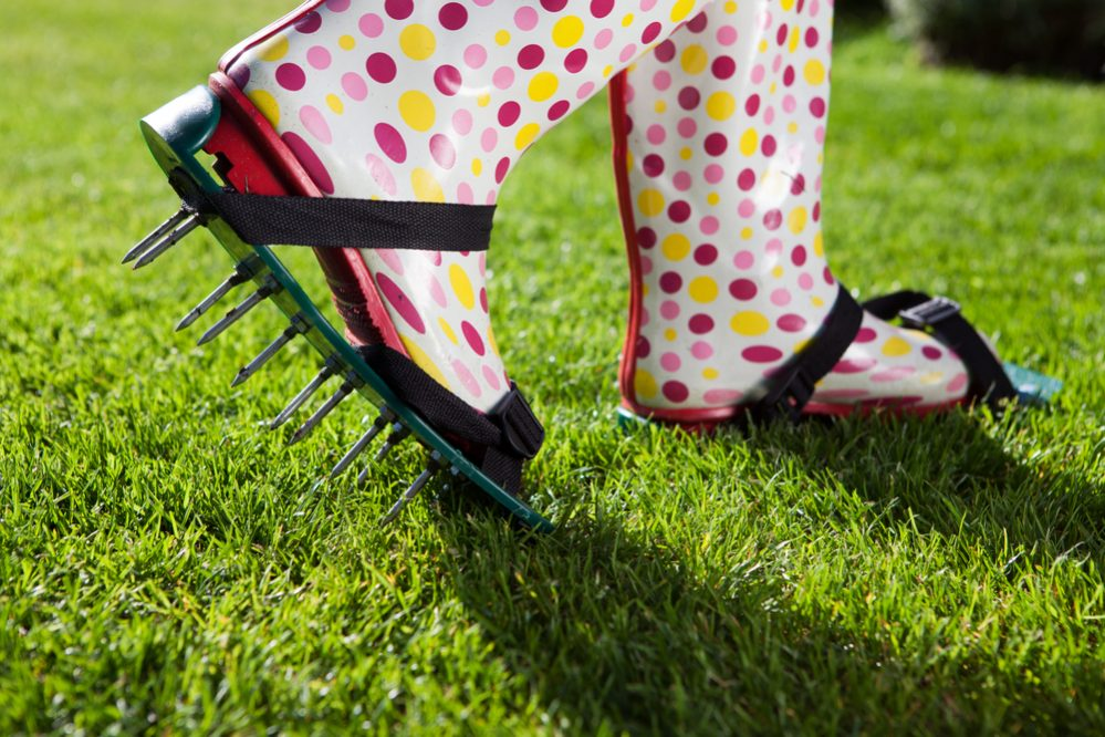 How do you aerate your lawn