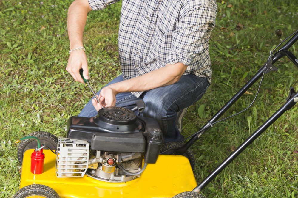 How much oil in a Lawn mower