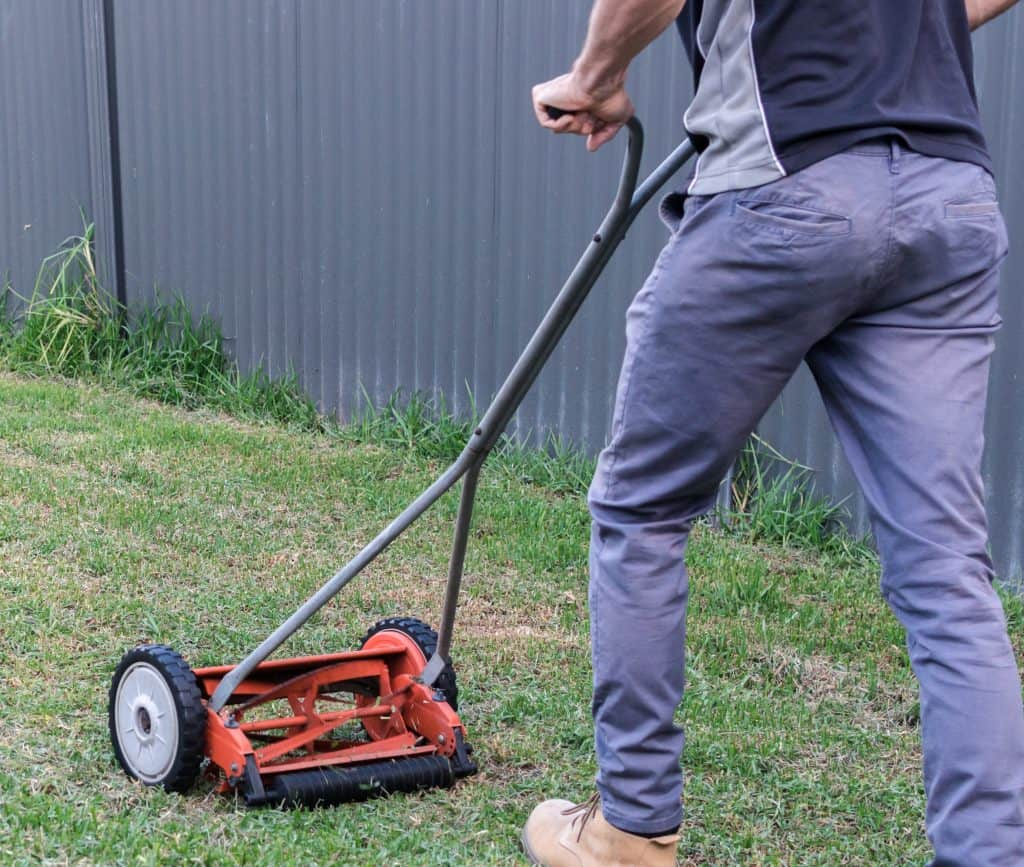 best manual push mower