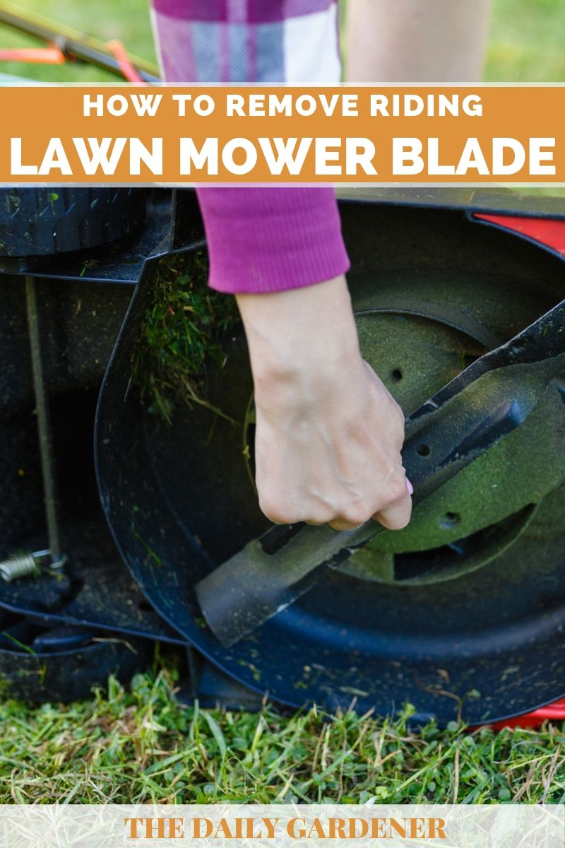Remove Riding Lawn mower Blade 2