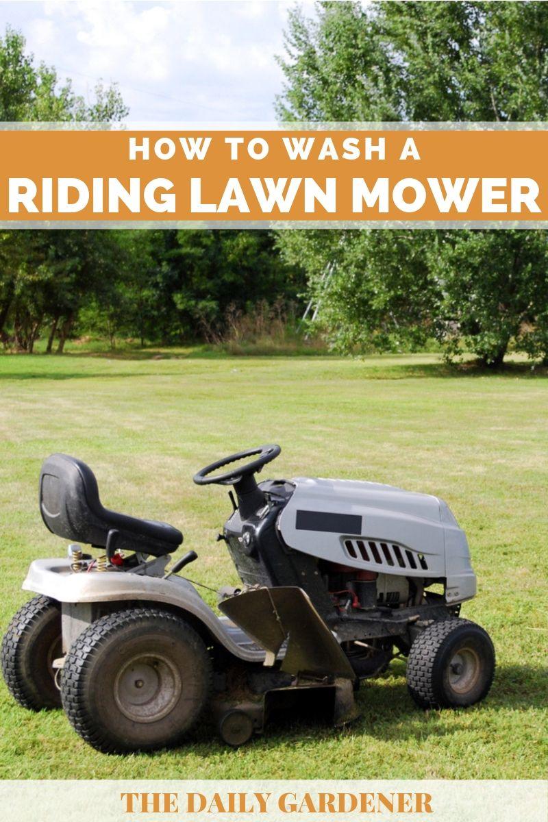 Wash Riding Lawn Mower 1