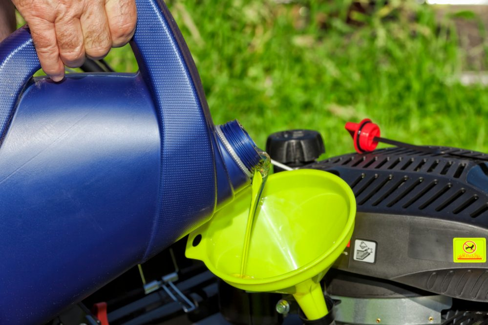 When to check and add oil to Lawn Mower