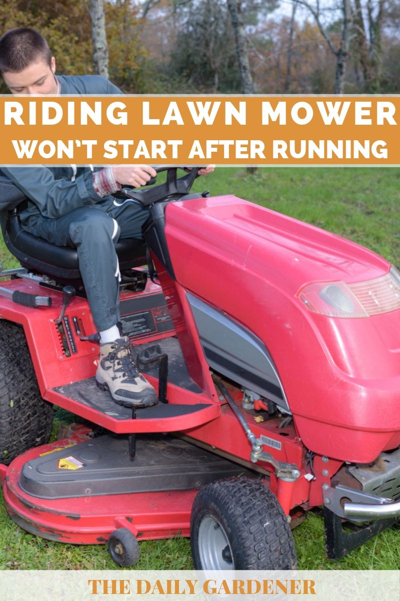 riding lawn mower problems 1