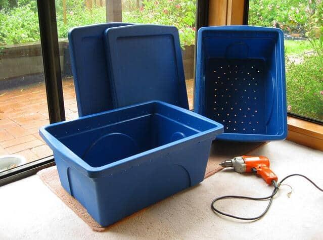 worm compost bin Capacity