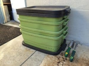 worm composter size