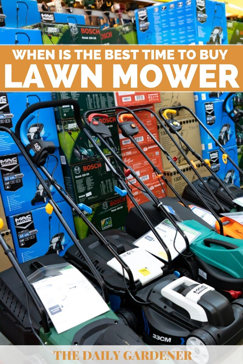 Best Time to Buy a Lawn Mower 2