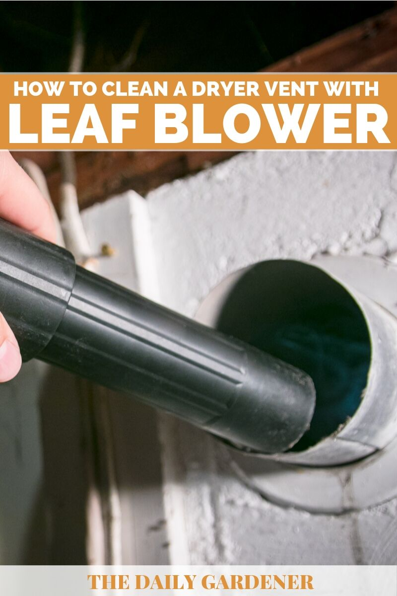 Clean a Dryer Vent with a Leaf Blower 2