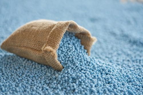 Controlled release lawn fertilizer