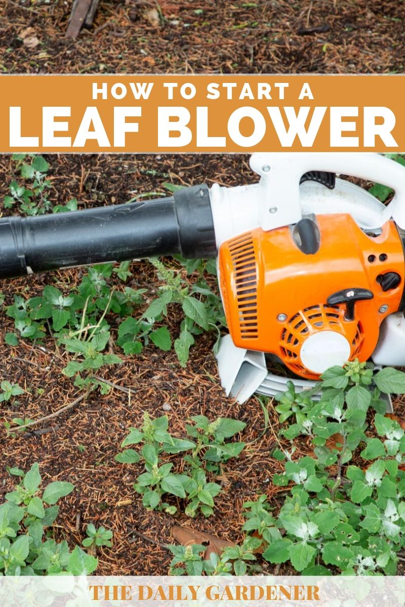 How to Start a Leaf Blower 2
