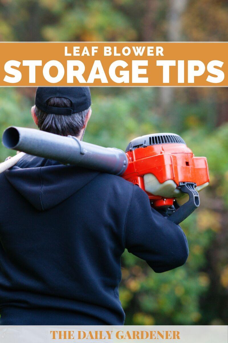 Leaf Blower Storage 1