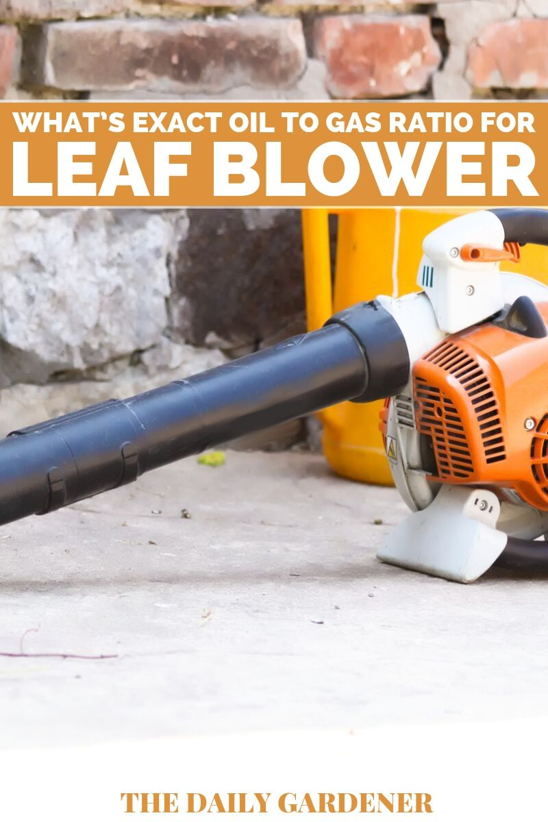 Oil to Gas Ratio for Leaf Blower 2
