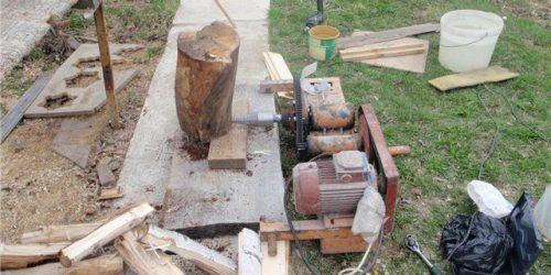 11 Homemade Log Splitter Plans You Can DIY Easily
