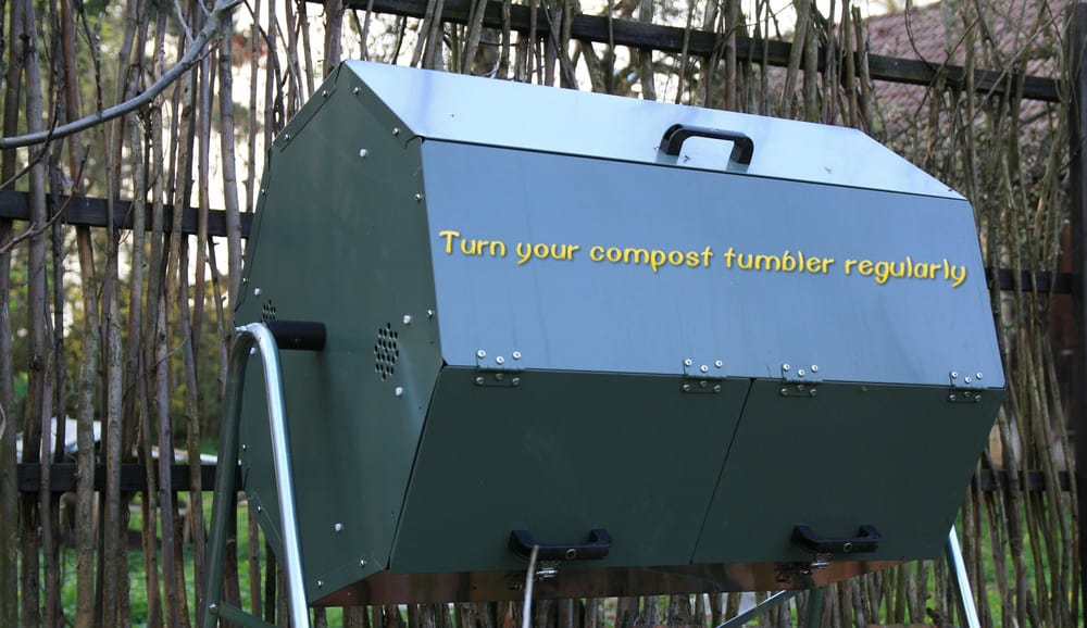Turn Your Compost Tumbler Regularly