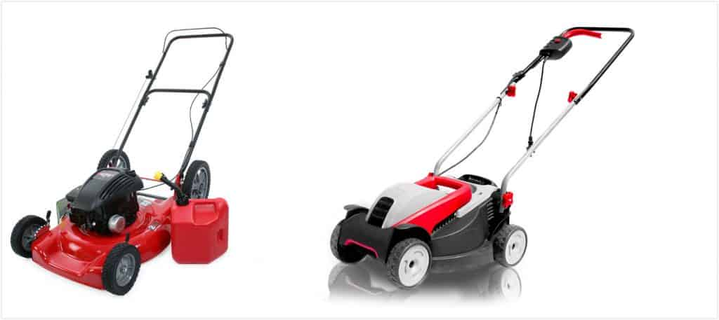 electric and gas lawn mower