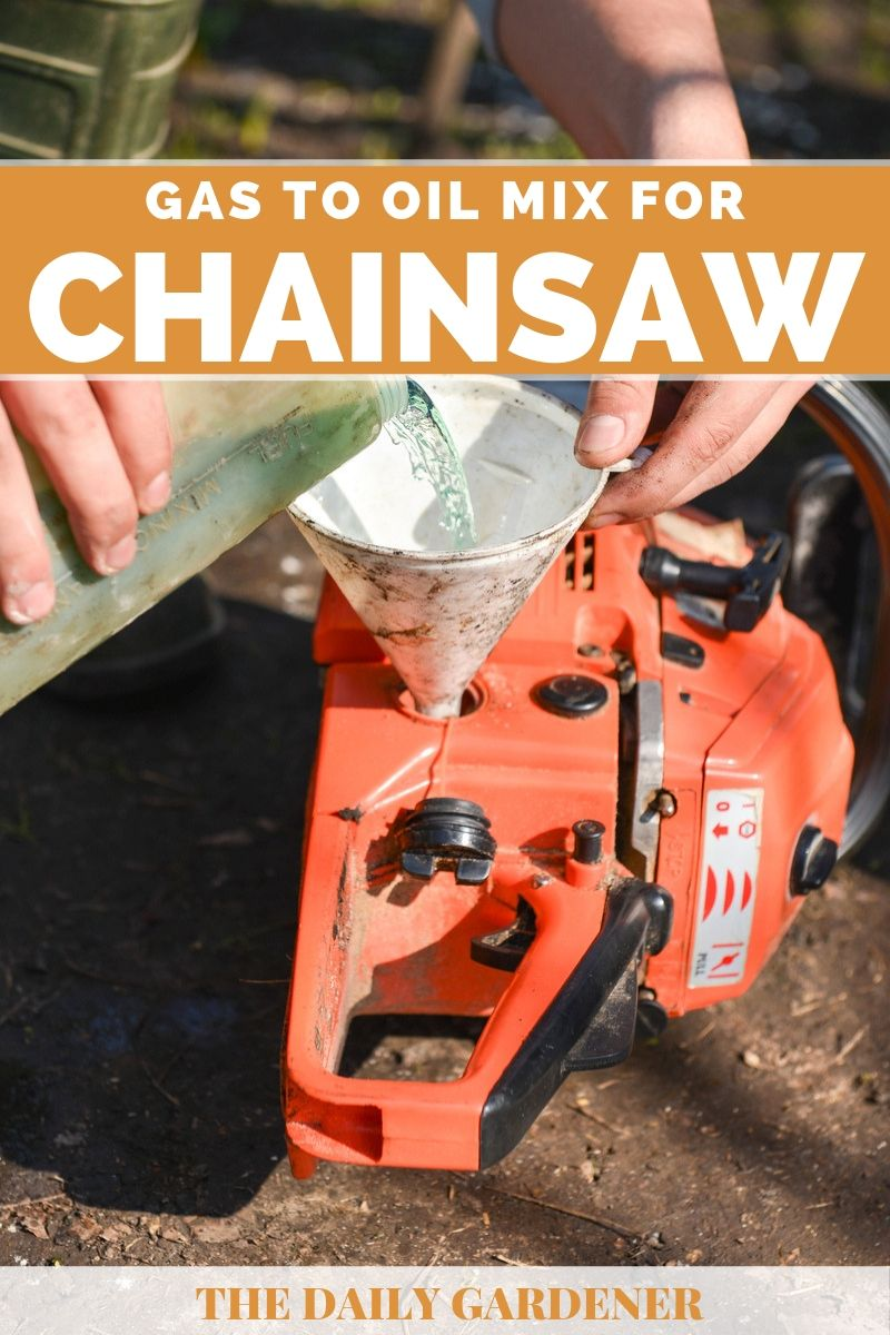 gas to oil mix for chainsaws 1