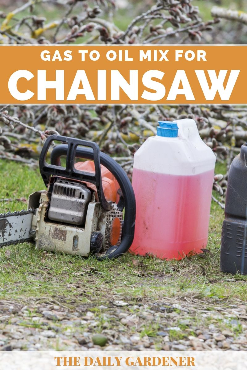 gas to oil mix for chainsaws 2