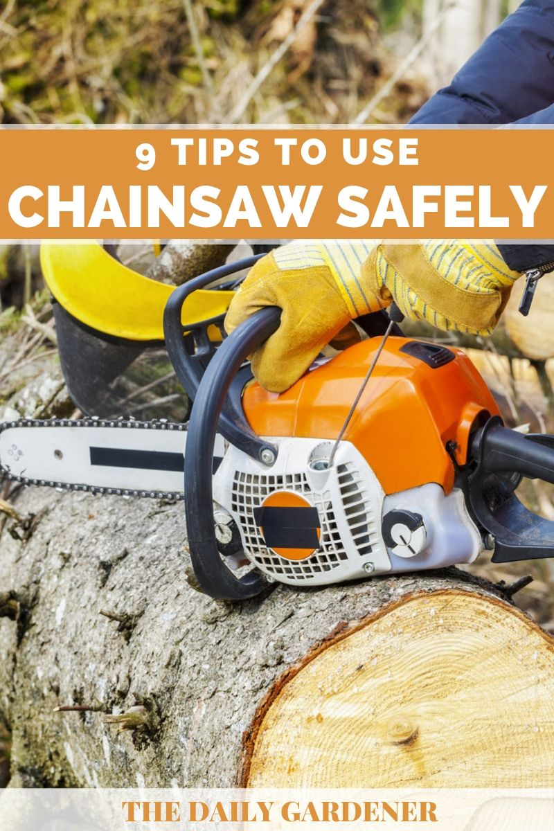 how to use chainsaw safely 1