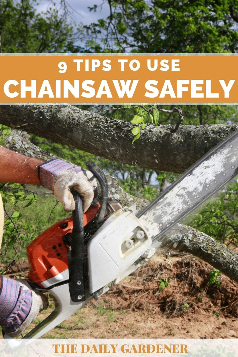 how to use chainsaw safely 2