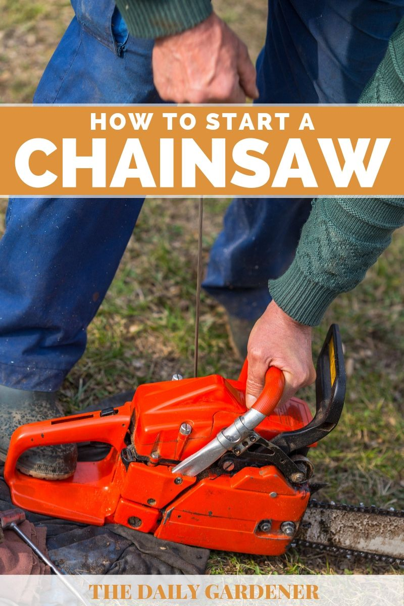 How to Start a Chainsaw 1