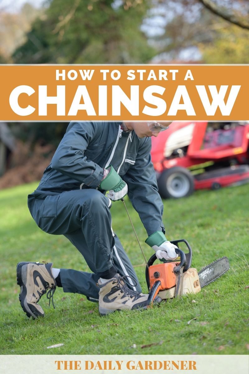 How to Start a Chainsaw 2
