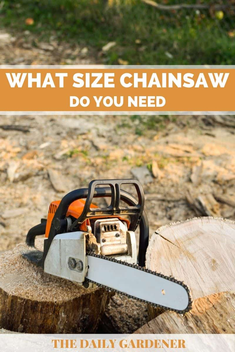 What Size Chainsaw 1