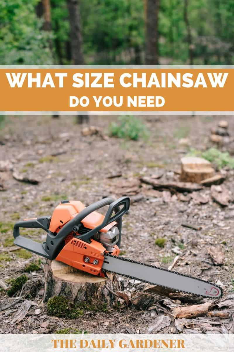 What Size Chainsaw 2