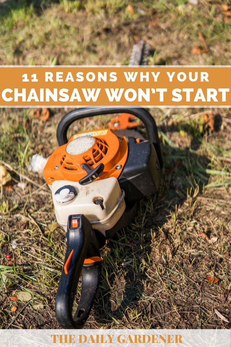 chainsaw wont start 1