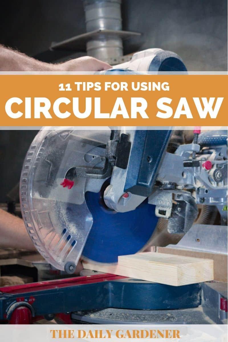 how to use circular saw 1