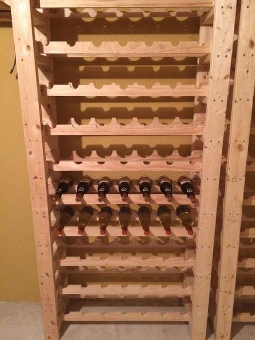 Wine rack tower