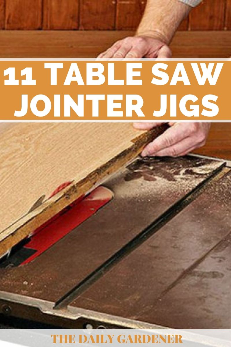 DIY Table Saw Jointer Jigs