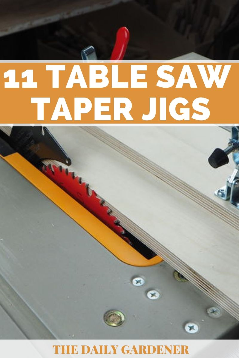 Homemade Table Saw Taper Jigs