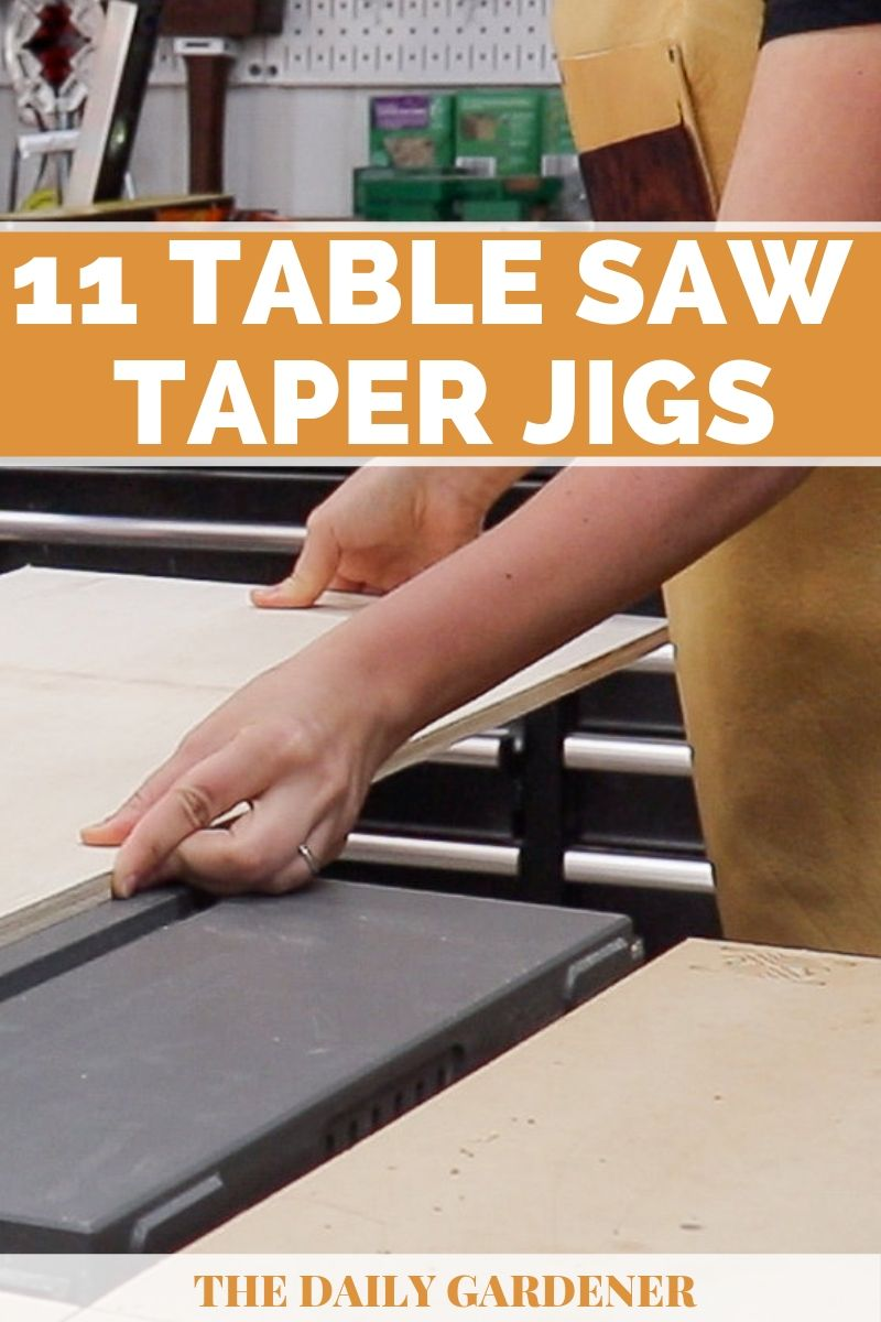 diy Table Saw Taper Jigs