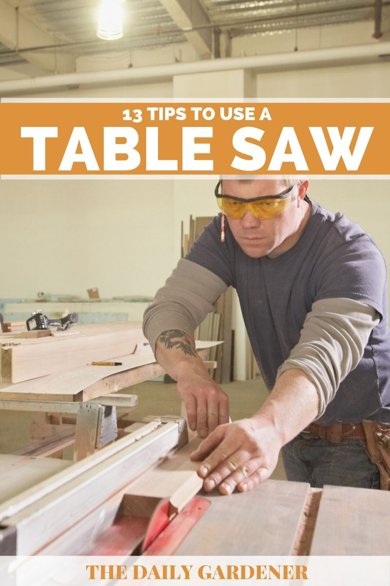 how to use table saw 1