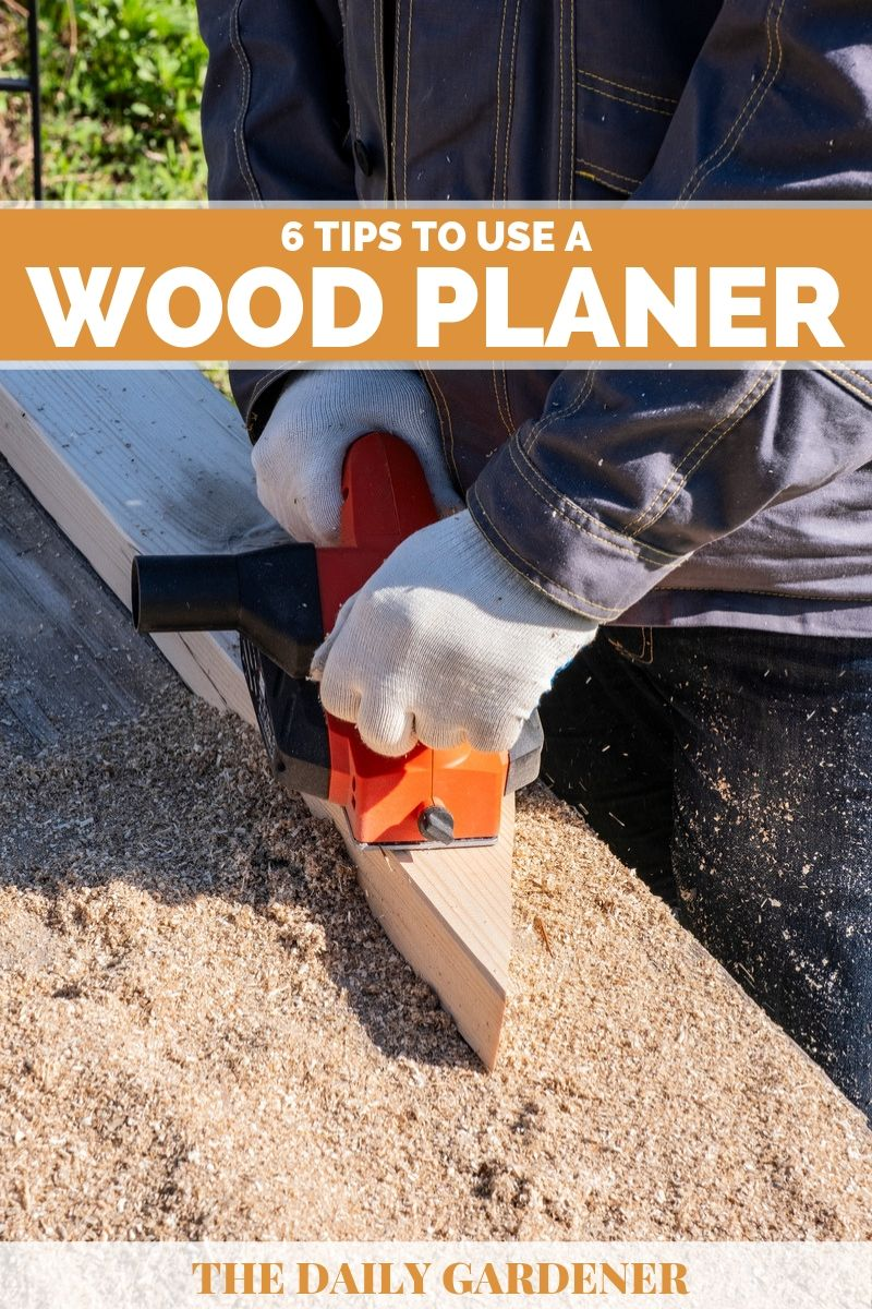 how to use wood planer 1