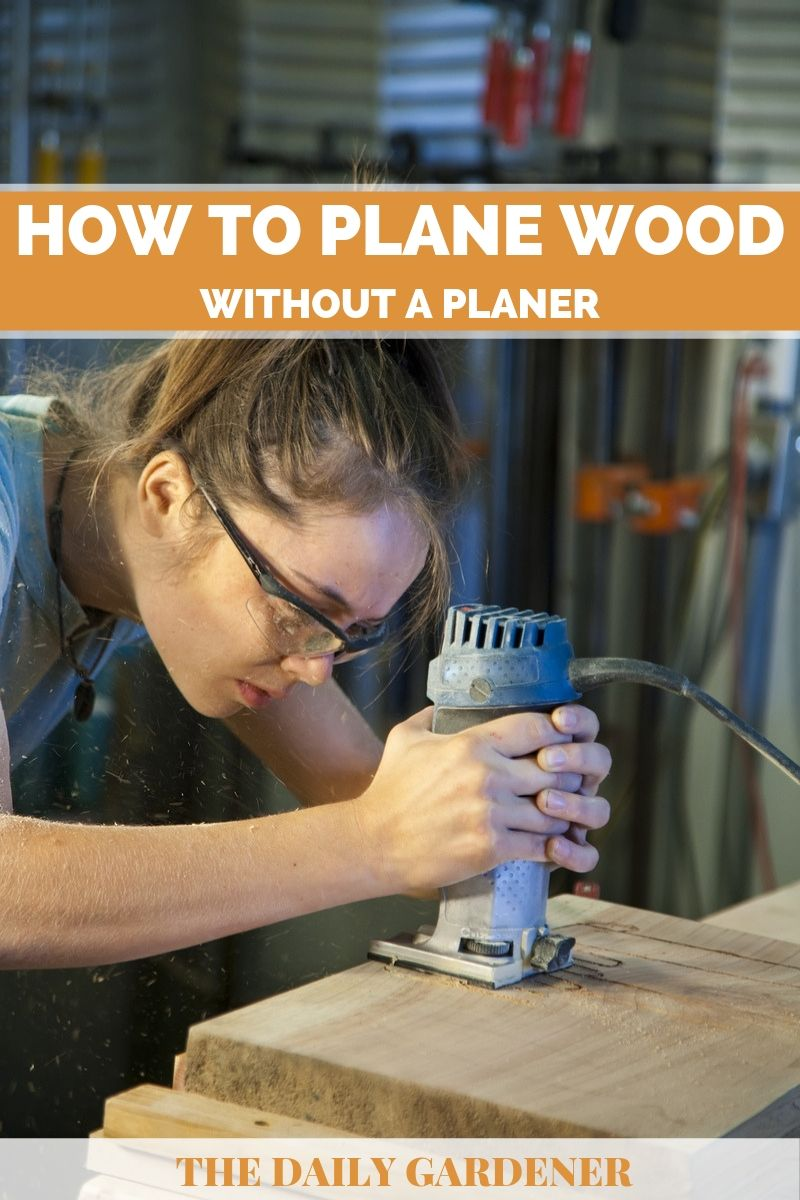 plane wood without planer 1