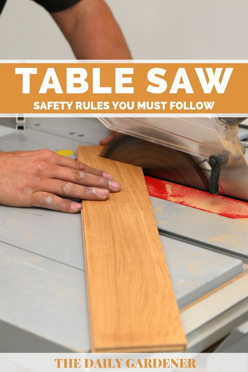 Table Saw Safety Rules 1