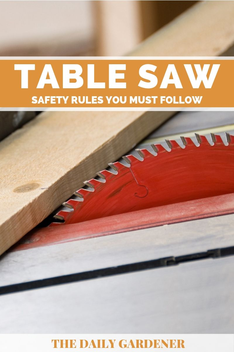 Table Saw Safety Rules 2