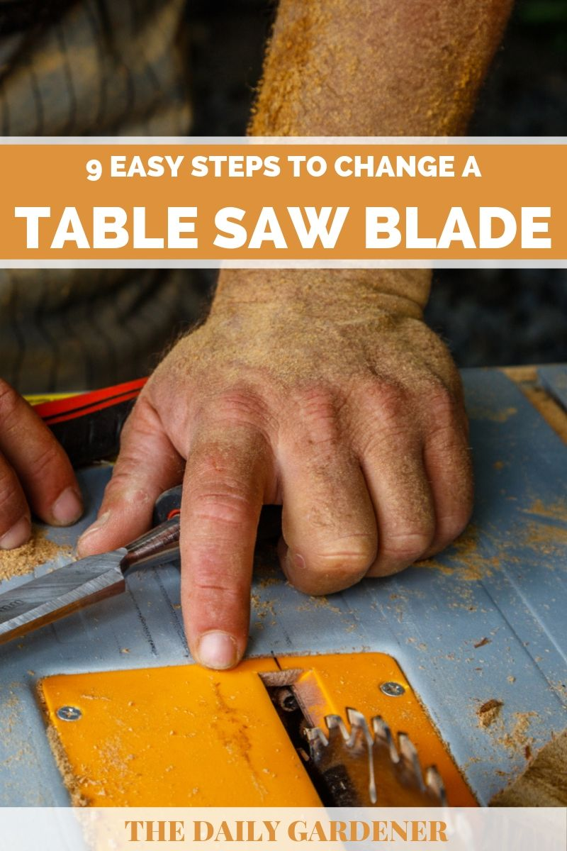 how to change table saw blade 1