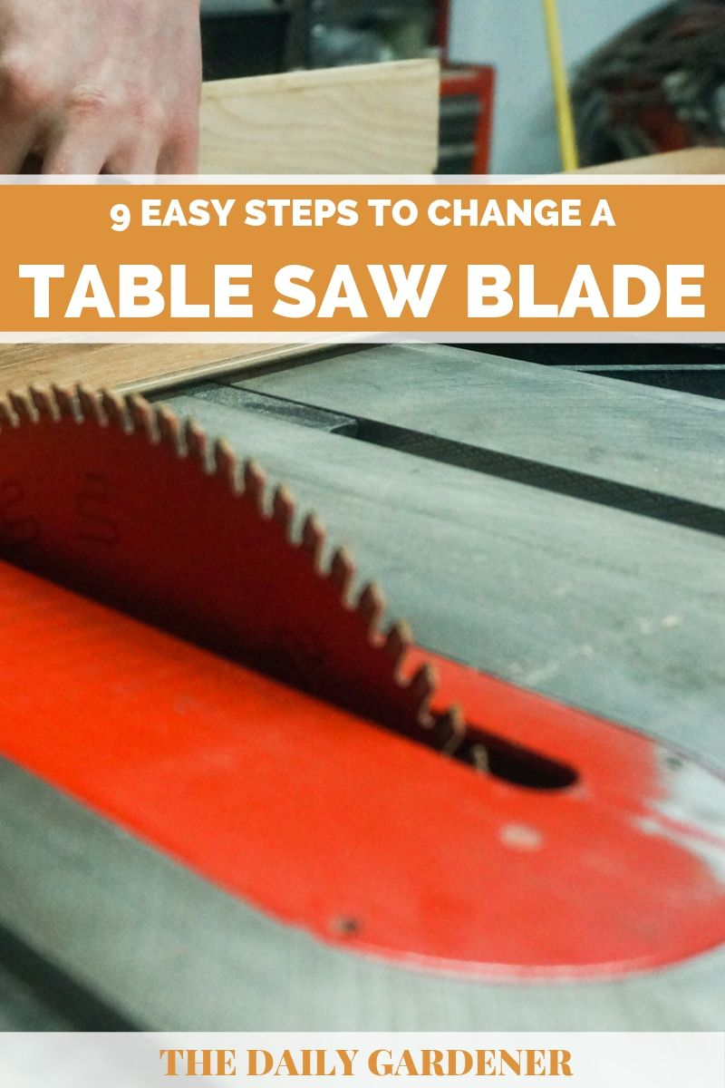 how to change table saw blade 2