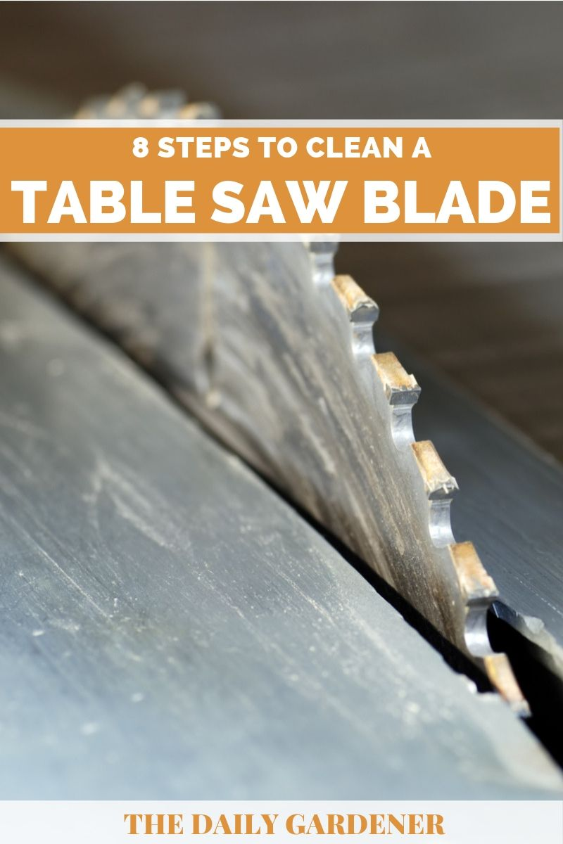 how to clean table saw blade 1