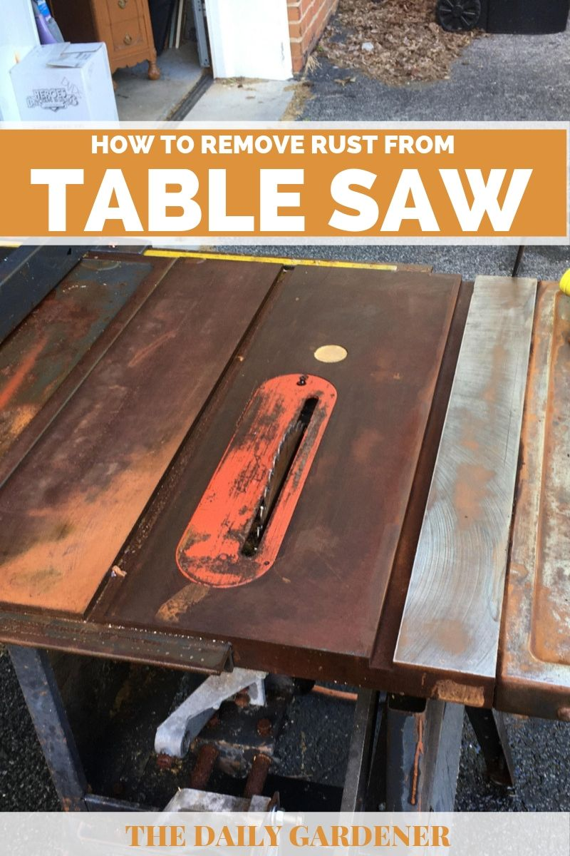 remove rust from table saw 1
