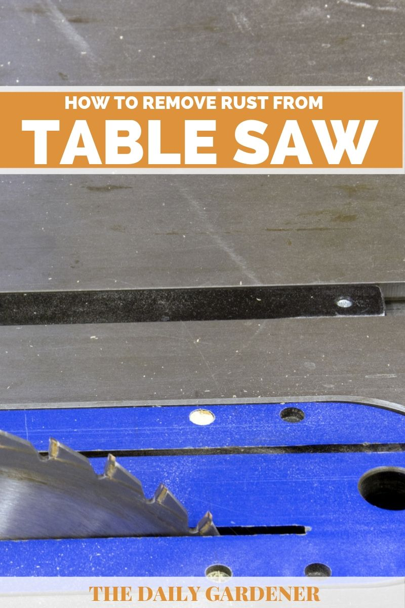 remove rust from table saw 2