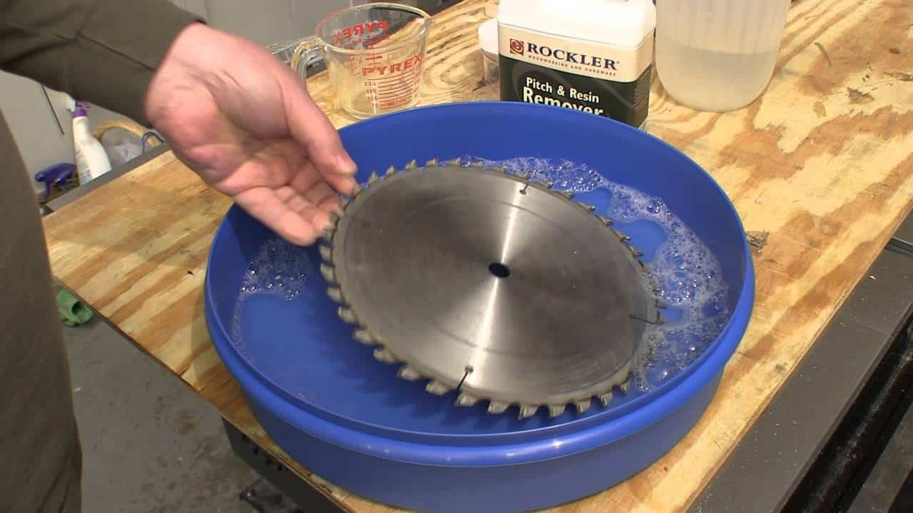 soak the blade in resin remover
