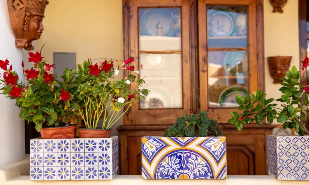 Ceramic Tile Planter box