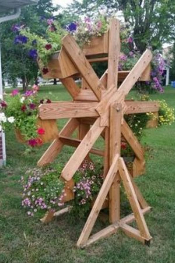 Mill Wheel Planter