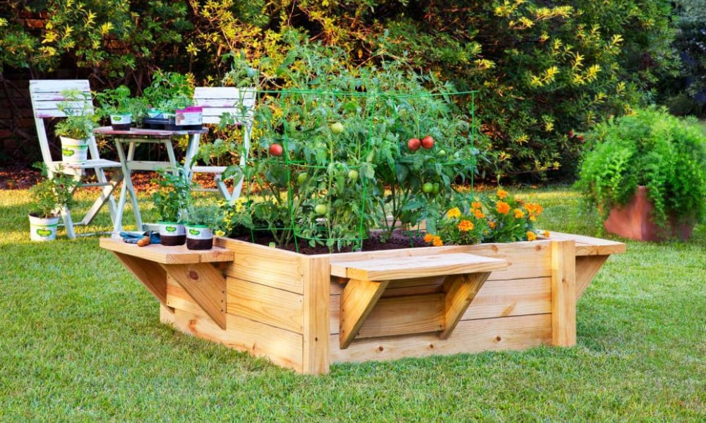 Planter Box with benches