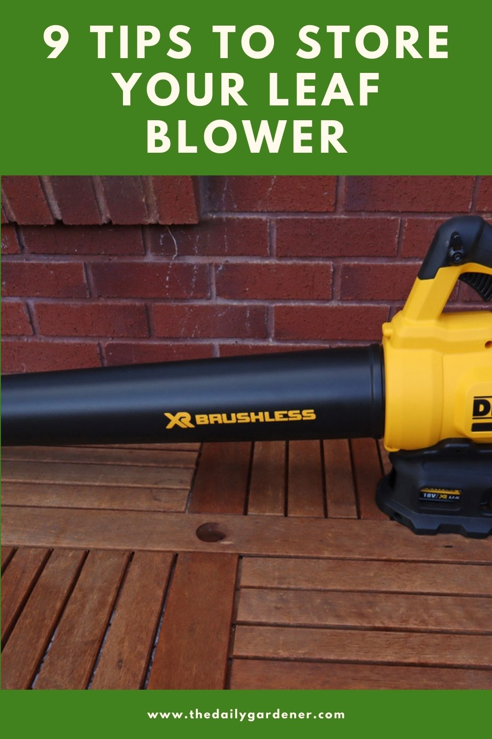 9 Tips to Store Your Leaf Blower 2